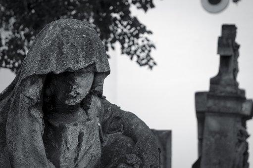 Sculpture, Cemetery, Statue, Figure, Angel, Stone