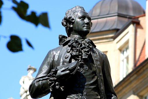 Goethe, Leipzig, Monument, Bronze, Saxony, Architecture