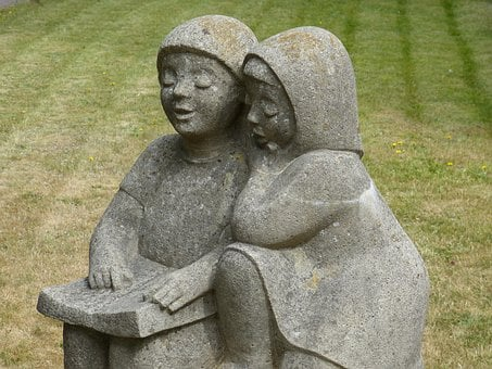 Figure, Sculpture, Art, Stone Figure, Child, Children