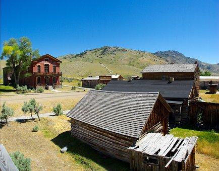 Bannack Ghost Town, Montana, Usa, Bannack, Ghost Town
