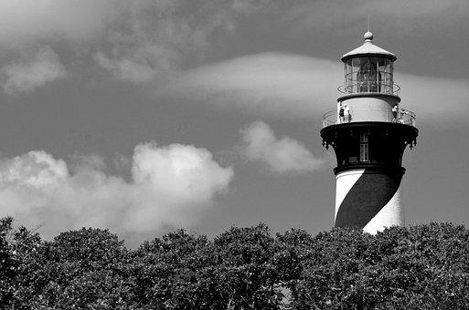 St, Augustine, Florida, Lighthouse, Beacon, Warning