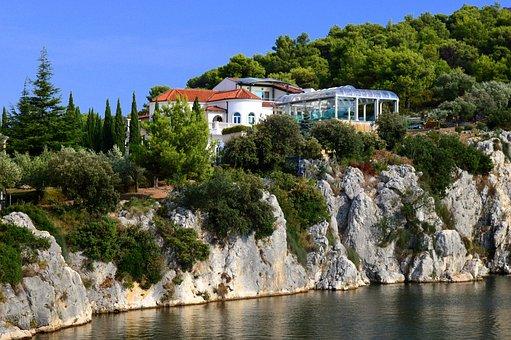 Croatia, Sea, Adria, Water, At Sea, Island, City, Blue