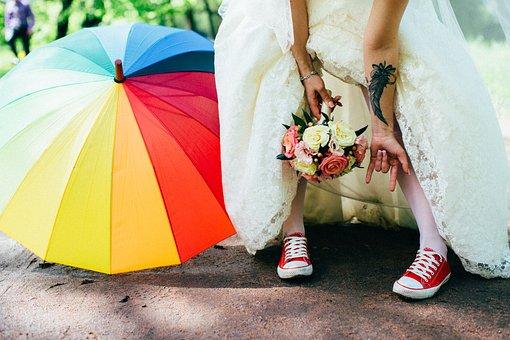 Wedding, Bride, Woman, Dress, Girl, Bouquet, Flowers