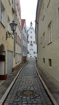 Bavaria, Augsburg, Historic Center, Building, Streets