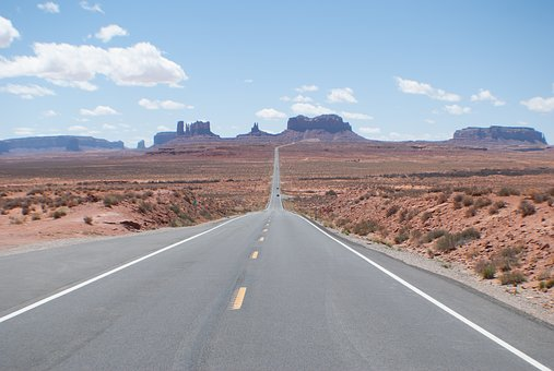 Landscape, Desert, Highway, Forrest Gump Point, Arizona