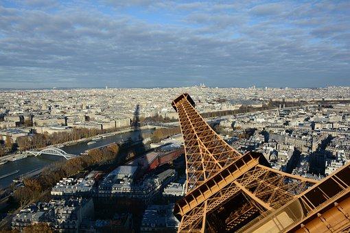 Eifeltårnet, Shadow, The Eifel Tower, Paris, View