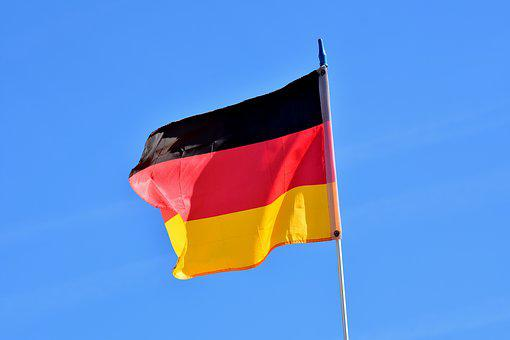 Flag, German, Stripes, Black Red Gold, Germany, Flutter