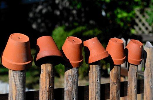 Garden Fence, Flower Pots, Clay Pots, Decoration
