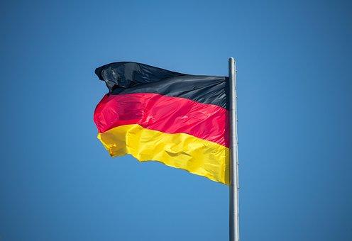 Flag, Germany, Black, Red, Gold, Flutter, Blow, German