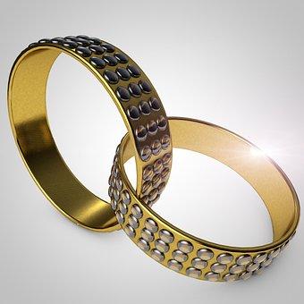 Rings, Gold, Wedding, Ring, Before, Love, Romance
