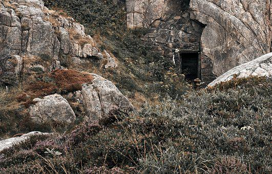 Bunker, Landscape, Nature, Grass, Mood, War, Mountains