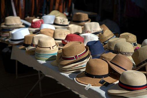 Hat, Market, Sale, Fashion, Headwear, Fashionable