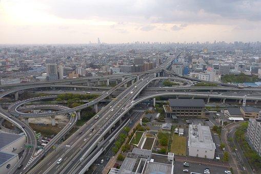 Highway, Higashi-osaka, Junction, High Speed Road