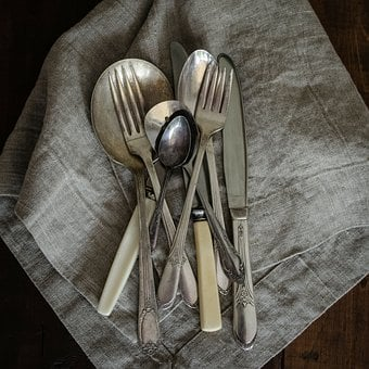 Vintage, Utensils, Kitchen, Spoon, Cutlery, Set
