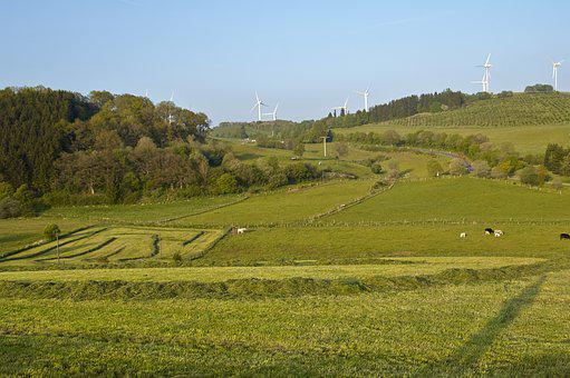 Landscape, Cultural Landscape, Windräder, Agriculture