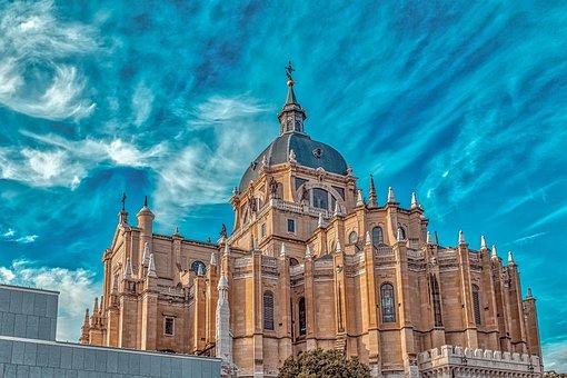 Almudena, Cathedral, Madrid, Architecture, Spain
