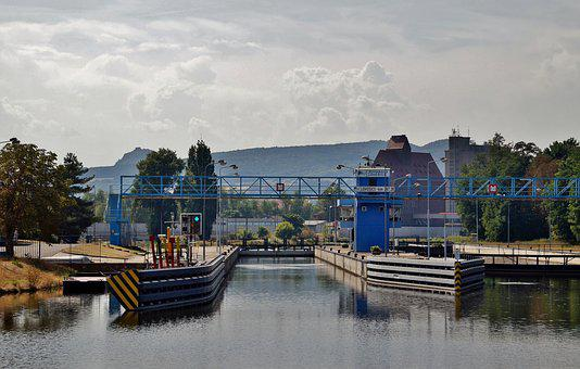 Ferry, Chamber Of Commerce, Canal, Lock, River, Modern
