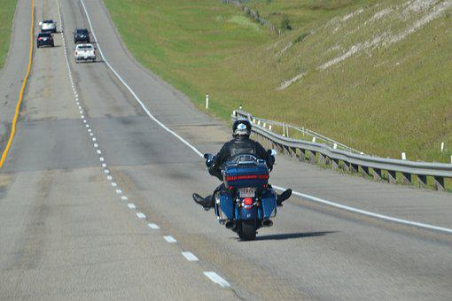 Biker, Highway, Road, Travel, Motorcycle