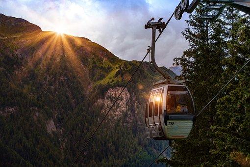 Cable Car, Gondola, Mountains, Alpine, Mountain Railway