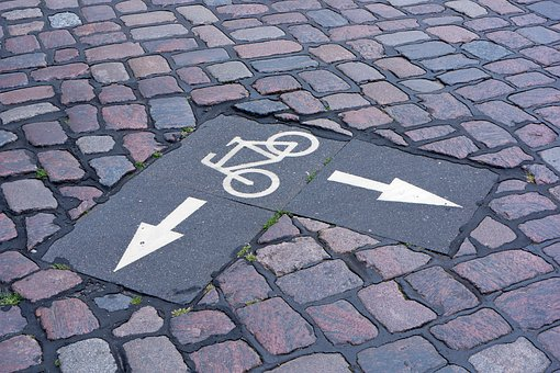 Bike, Bicycle Road, Note, Arrow, Direction, Road