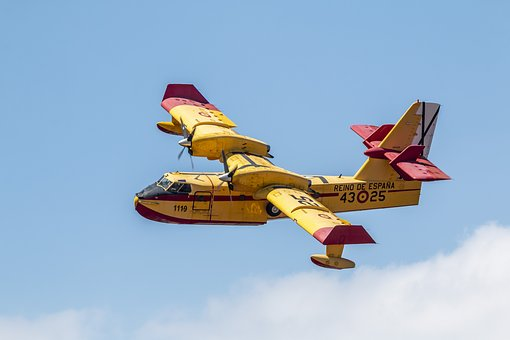 Canadair, Plane, Fire, Flight, Aircraft, Firefighter