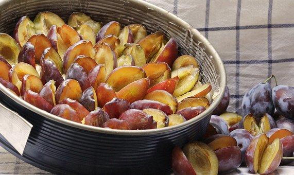 Plum Cake, Springform Pan, Preparation, Plums, Dough