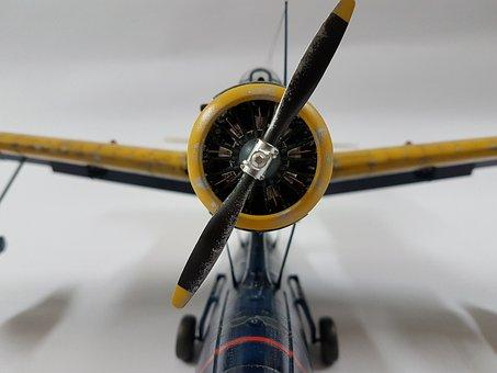 Modelkit, Kingfisher, Fach, Plane, Aeroplane, Propeller