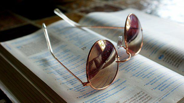 Glasses, Retro, Read, Book, Education, Study