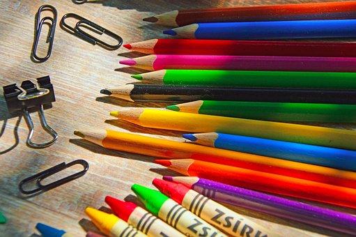 Back-to-school, School, Crayon, School Supplies
