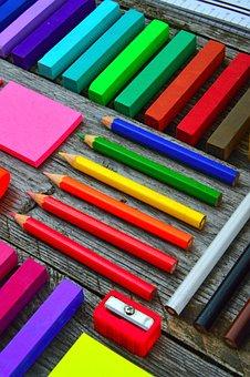 School Times, School School Supplies, Brushes, Crayon