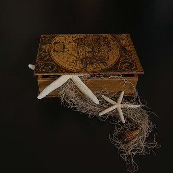 Flotsam, Treasure Chest, Starfish, Shell, Lake Map