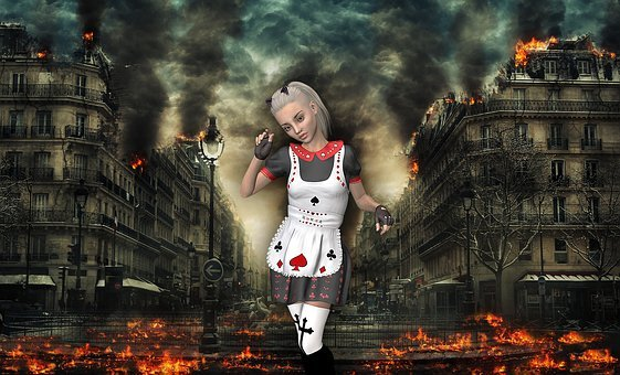 Apocalypse, Armageddon, Collage, Girl, Steampunk