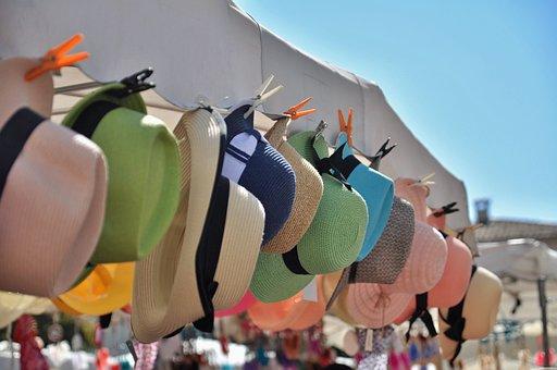 Hats, Summer Hats, Straw Hat, Fashion, Color, Market