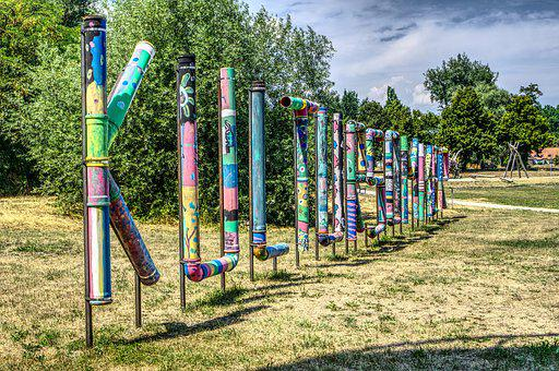 Summer Of Culture, Art, Artwork, Water Pipes, Painted