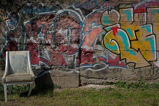 Chair, Throne, Grafitti, Furniture, Bulky Waste, Royal