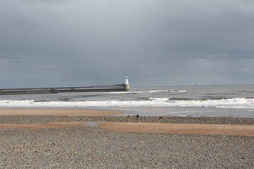 Blyth, Beach, Northumberland, Uk, Coast, Seaside, Sea
