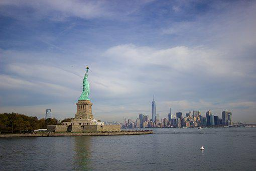 Statue Of Liberty, Manhattan, Usa, Monument, Statue