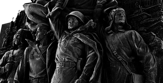 Monument, Statue, Soldier, War, Russia, Moscow