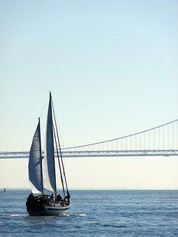 Bay, Boat, Sailing, Bridge, Sail, Tourism, Ocean, Water