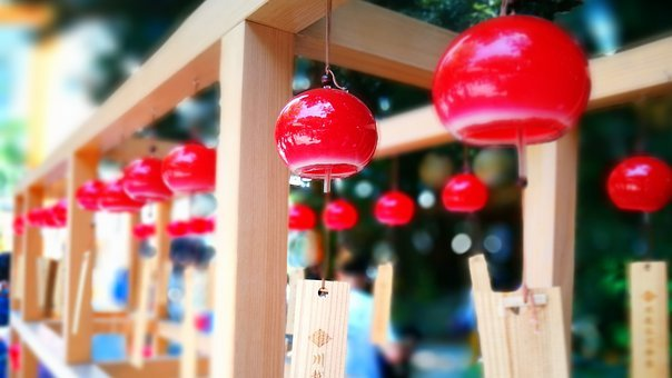 Wind Chimes, Shrine, Japan, Japanese Style, Festival
