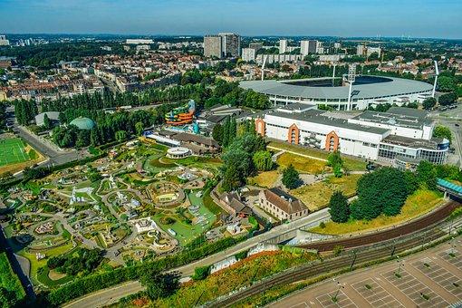 Belgium, Brussels, Aerial View, Heysel, Stadium