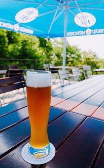 Wheat Beer, Beer, Beer Glass, Foam, Beer Garden