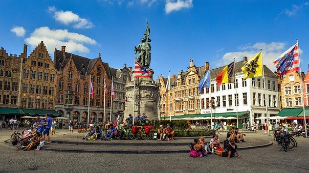 Brugge, Markt, Square, Buildings, Architecture