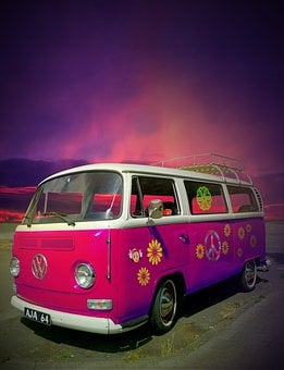 Vw, Bulli, Camper Van, California Icon, Hippie