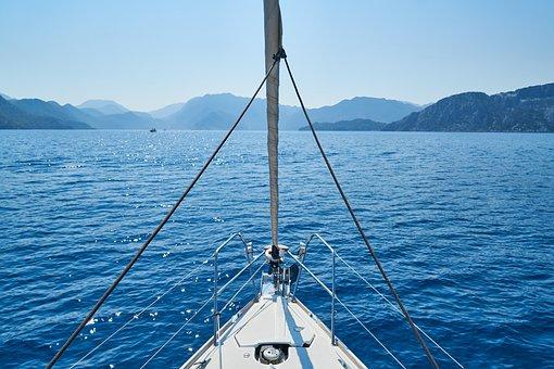 Holiday, Landscape, Boat, Sailboat, Direct, Blue, Ocean