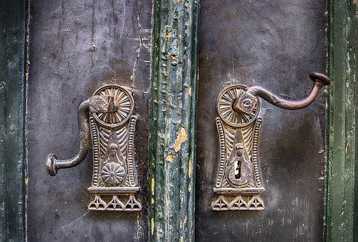 Door Handles, Lock, Handle, Door, Old, Wood, Metal