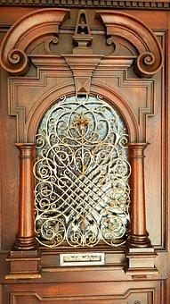 Door, Input, Historically, Wood, Columnar, Grid