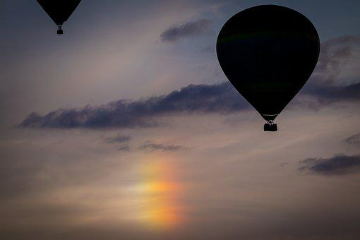 Iridescent Cloud, Hot Air Balloon, Montgolfiade