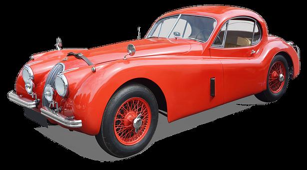 Jaguar Xk 140, Coupe, Vintage Carr Filament Red