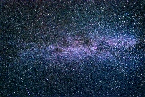 Shooting Stars, Perseids, Milky Way, Starry Sky